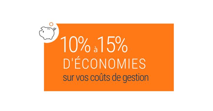 10% à 15% déconomies