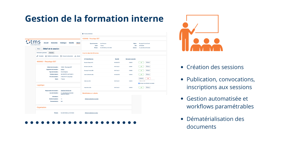 TMS Training Management Solution Formation Interne