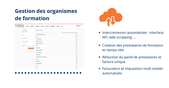 TMS Training Management Solution Prestataires