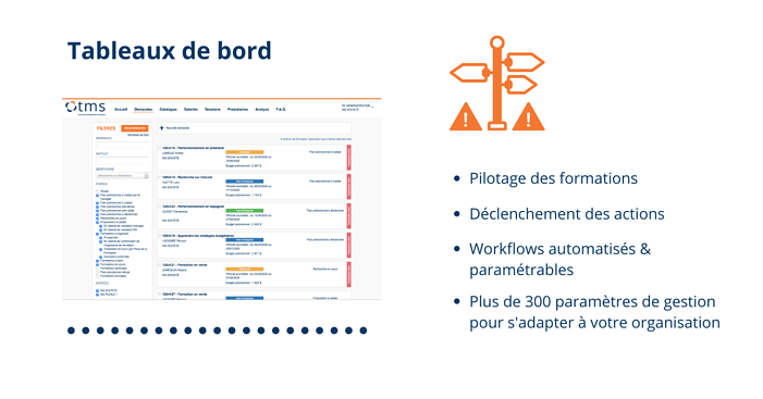 TMS Training Management Solution Tableaux de bord